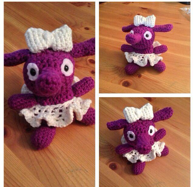 Little crochet elephant. I named her Violette.