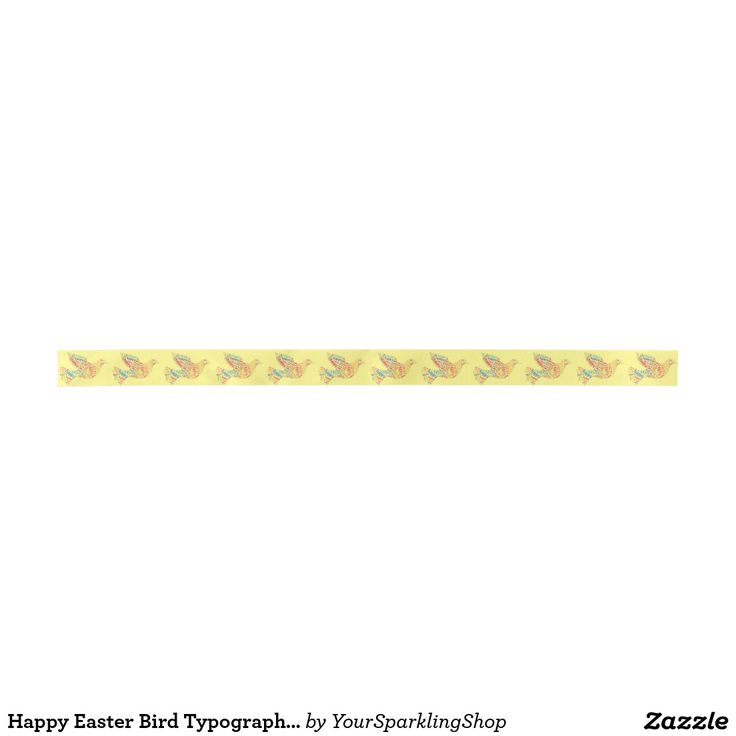 Happy #Easter #Bird Typography Colorful #Ribbon