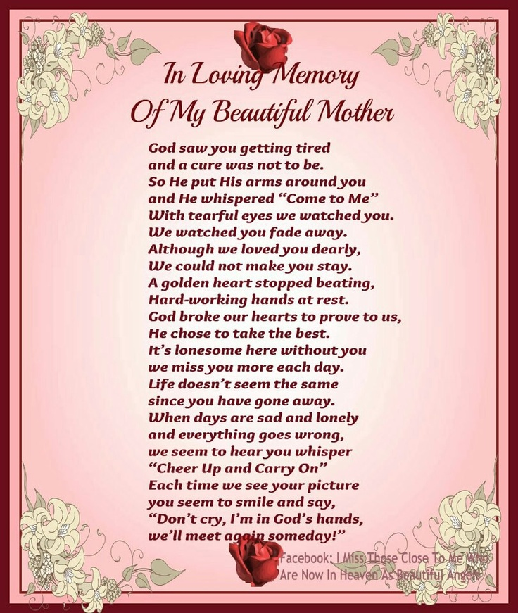76 Best Missing My Mom! Images On Pinterest