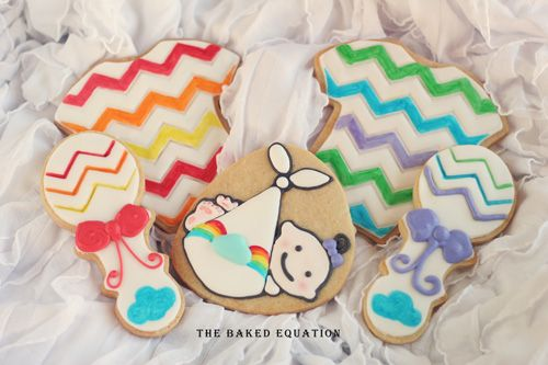 Rainbow Themed Baby Shower Cookies