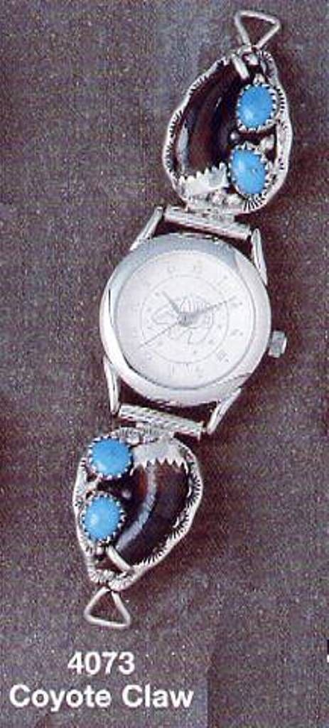 Coyote claw Ladies Watch tip Turquoise with Watch  A Certificate of Authenticity has been included with this item.
