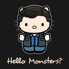 Monsters are real supernatural hello kitty pinterest - Hello kitty fernseher ...
