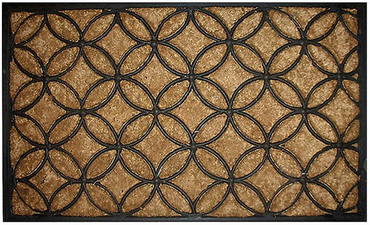 1 6 X2 6 Circles Mat Black In 2020 Door Mat Animal Print Rug House Front Door