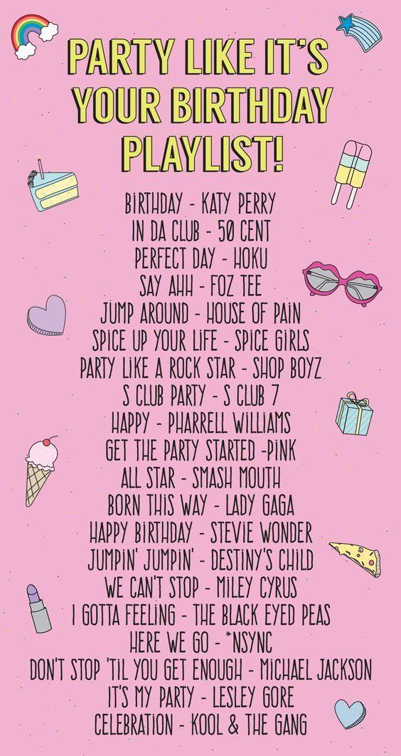 Party wie es ist deine Geburtstags-Playlist