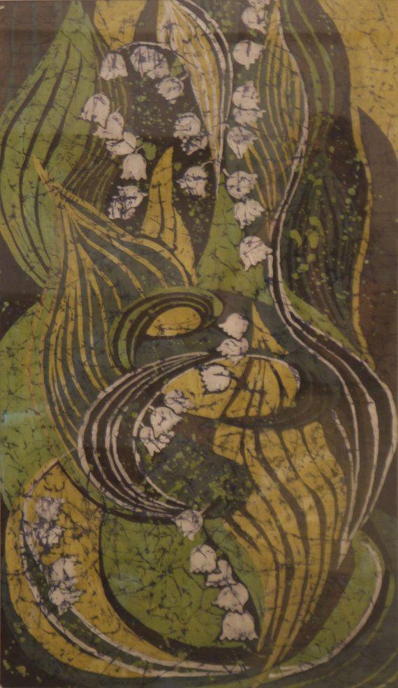 Batik Painting. Original Flowers Painting Contemporary by OHankArt