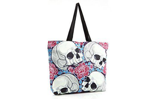 Women Shopping Tote Bag Hand Bag Canvas With Skull Print ... https://www.amazon.com/dp/B01NADNHCD/ref=cm_sw_r_pi_dp_x_RTmqyb6BVYP5J