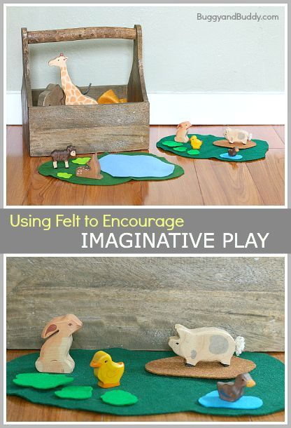 How to Encourage Imaginative Play Using Felt- Perfect for quiet time play or for a rainy day (toddler, preschool, and kindergarten)! ~ BuggyandBuddy.com