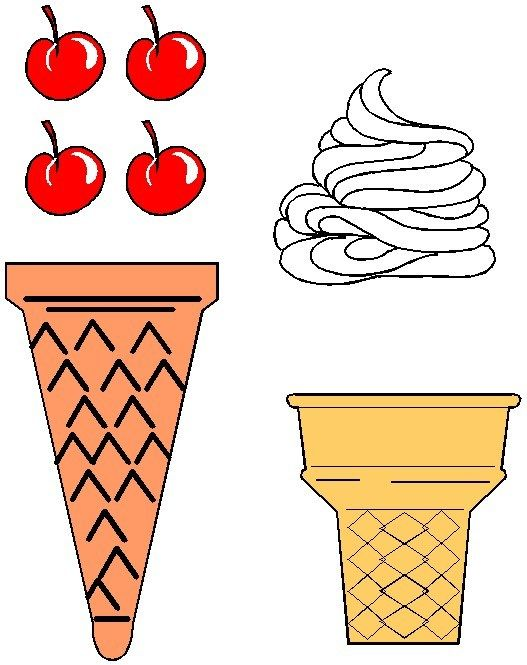 Bild der Eistüte bedruckbar   – Preschool Ideas