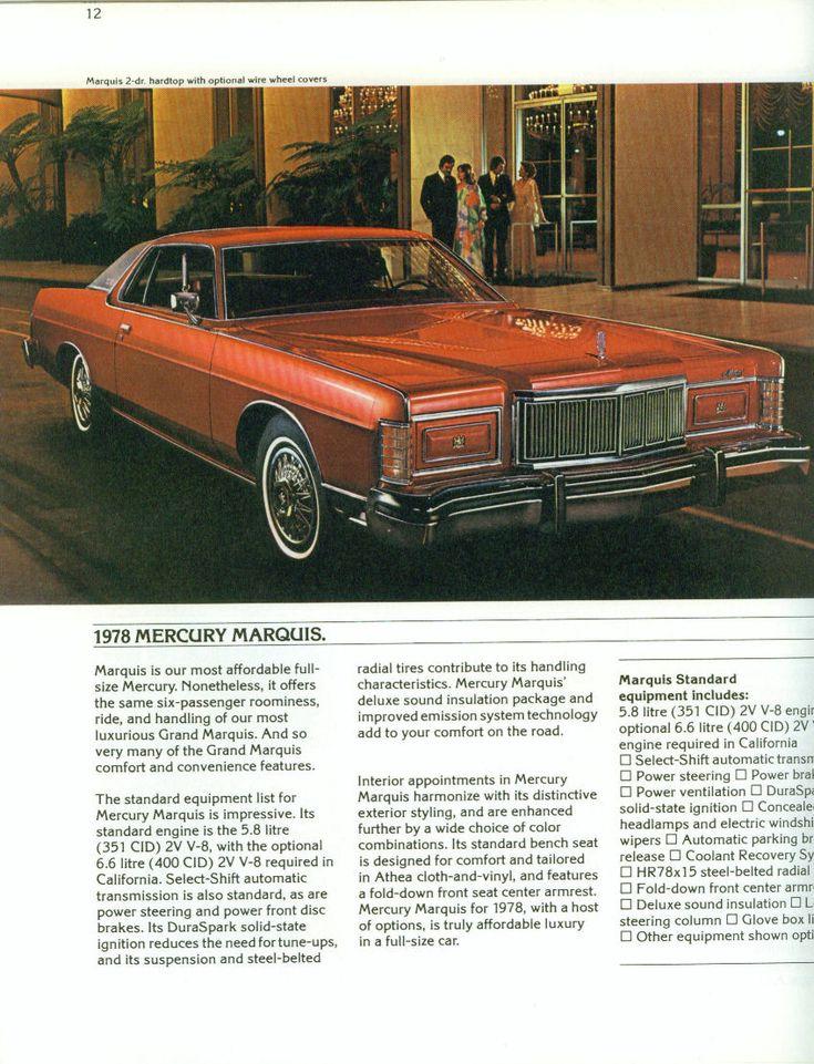 1978 Mercury Marquis Two Door Hardtop
