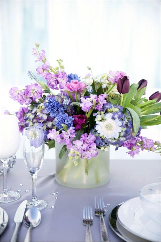 Best purple flower centerpieces ideas on pinterest