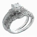 Stunning High Quality .925 Sterling Silver w/ Rhodium Plating CZ Wedding Band RingWedding Band