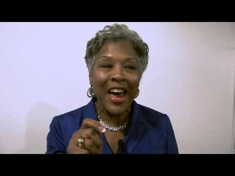 Joyce Beatty backstage at the 2012 DNC