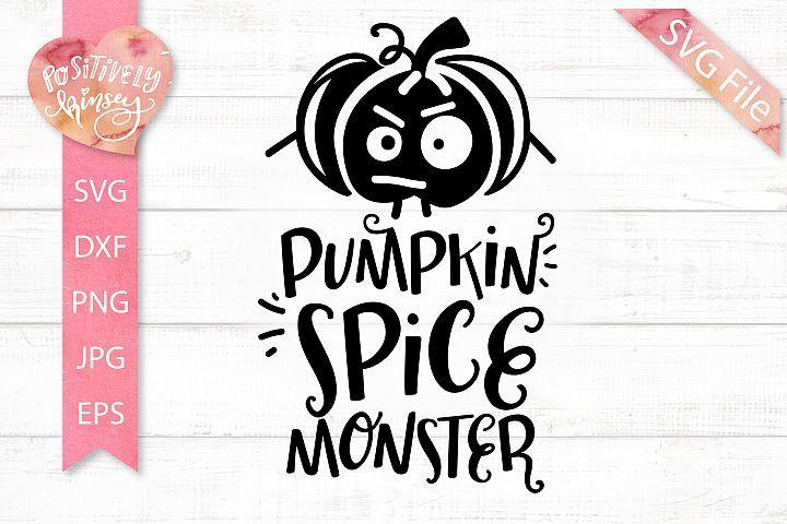 Pumpkin Spice Monster Svg Dxf Png Eps Jpg File Halloween Svg Pumpkin Png Pumpkin Spice School Design