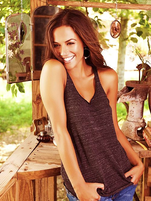 Jana Kramer...I've got this picture autographed and hanging on my frig!