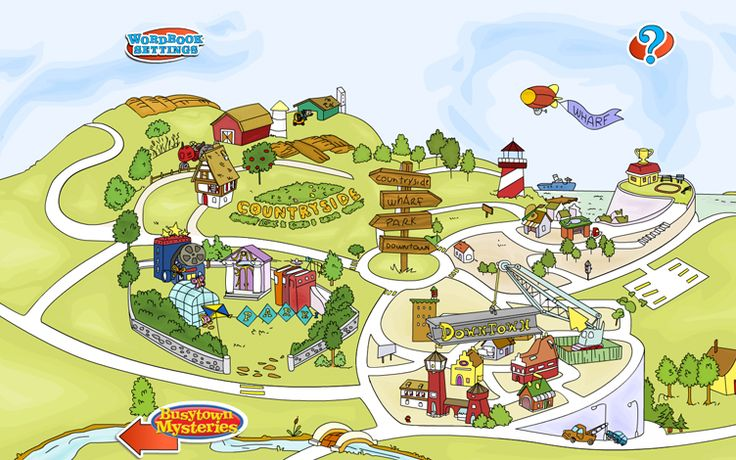 Busytown Mysteries map   Project Inspiration   Pinterest   Maps