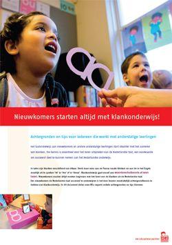 Informatie en tips voor klankonderwijs aan nieuwkomers #nt2 #anderstaligen #onderwijs