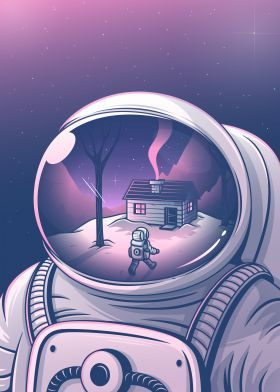 steel poster Abstract gebe elia colombo vettore space universe astronauts humor home dream surrealism clever stars sky