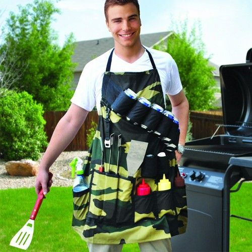 The Grill Sergeant BBQ Apron - Yellow Octopus