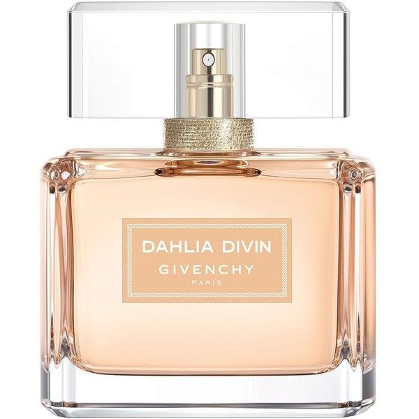 Givenchy Dahlia Divin Eau de Parfum/2.5 oz. (3.165 UYU) ❤ liked on Polyvore featuring beauty products, fragrance, flower fragrance, fruity perfume, eau de parfum perfume, eau de perfume and blossom perfume