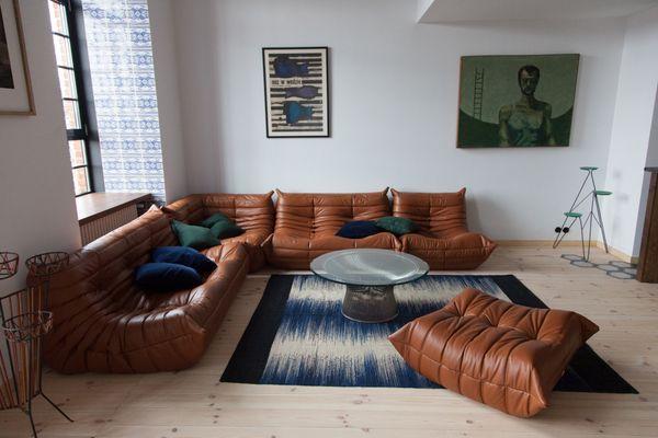 Mobilier De Salon Togo Vintage En Cuir Cognac Par Michel Ducaroy Pour Ligne Roset 1980s 2 Mobilier De Salon Canape Ligne Roset Architecte Interieur