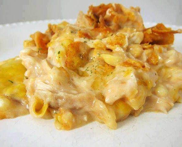 Dorito Chicken and Cheese Casserole