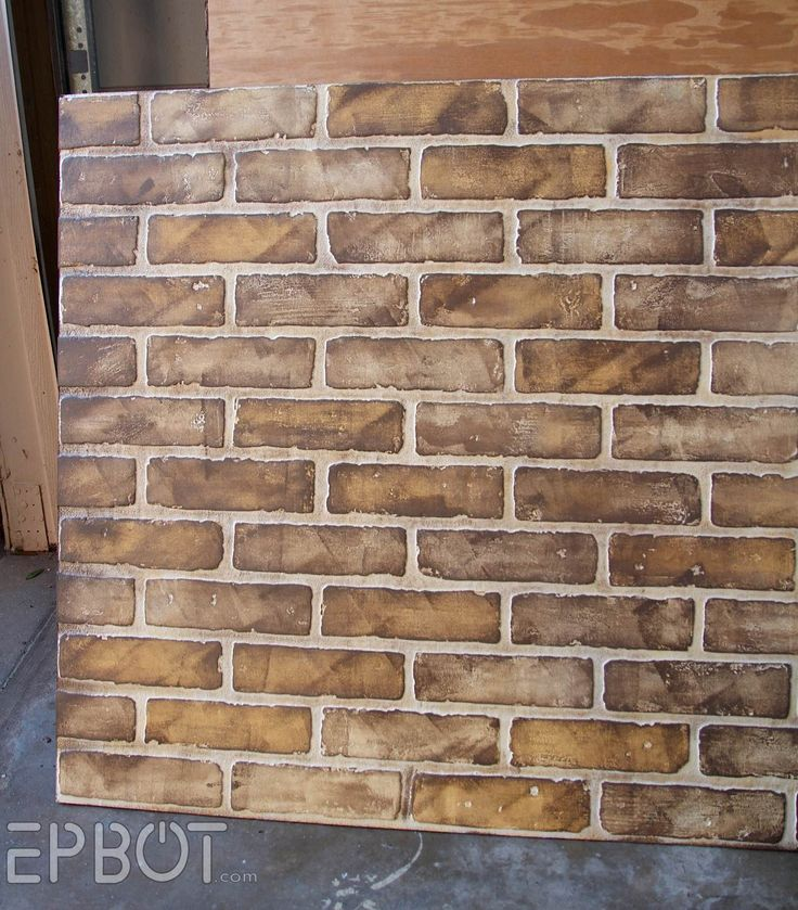 Diy Faux Brick Painting Tutorial Crackle Patina And Faux Finishes Pinterest