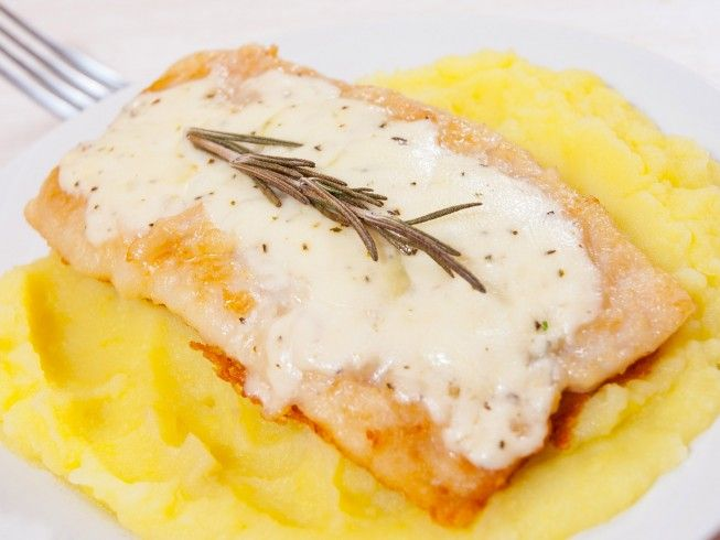 A 5-star recipe for Baked Pollock made with pollock, sour cream, Parmesan cheese, butter, salt, black