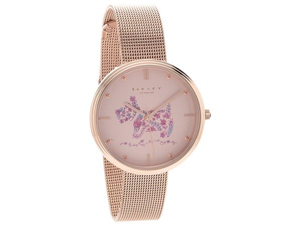 F.Hinds the Jewellers Summer Sale 2017 | Radley RY4216 Rosemary Gardens Rose Gold Plated Mesh Bracelet Watch - W5126