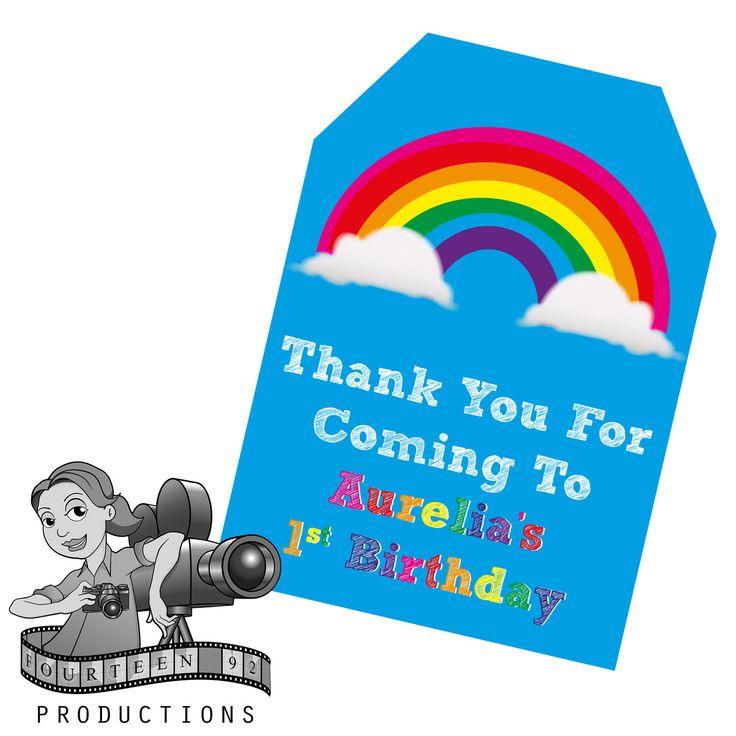 Rainbow Gift Tags by fourteen92prod on Etsy https://www.etsy.com/au/listing/507451882/rainbow-gift-tags