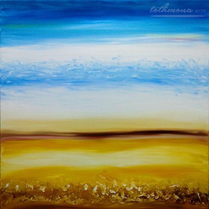 Seasons: Summer | finger painting |oil on canvas | 80x80cm