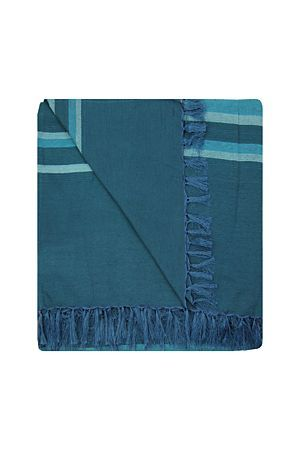 """This polyester and cotton blend throw with fringe border has a decorative weave and also functions as an bedroom or lounge setting. Measures 240x240cm.<div class=""""pdpDescContent""""><BR /><b class=""""pdpDesc"""">Dimensions:</b><BR />L240xW240 cm<BR /><BR /><b class=""""pdpDesc"""">Fabric Content:</b><BR />50% Polyester 50% Cotton<BR /><BR /><b class=""""pdpDesc"""">Wash Care:</b><BR>Gentle machine wash low heat tumble dry</div>"""