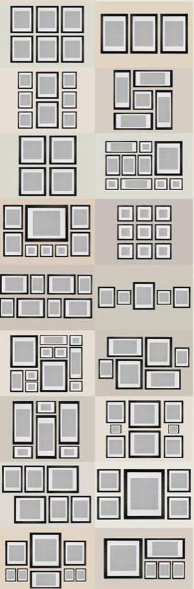 Organiza tus cuadros y/o espejos.