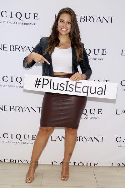 Ashley Graham Photos Photos - Model Ashley Graham attends the Lane Bryant launch of the #PlusIsEqual campaign at Times Square on September 14, 2015 in New York City. - Lane Bryant Launches #PlusIsEqual Campaign