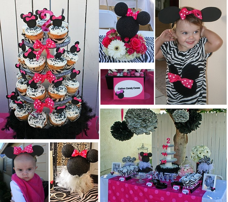 Minnie Mouse First Birthday Party Via Little Wish Parties: 101 Best Images About Minnie Birthday Party On Pinterest
