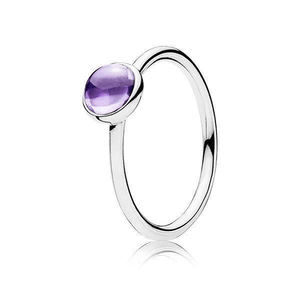 Purple Poetic Droplet Ring