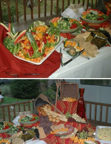 Image detail for catered outdoor wedding reception for Best food for wedding reception