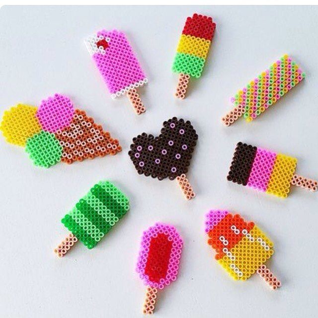 Ice cream hama beads by sorridi_e_staystrong