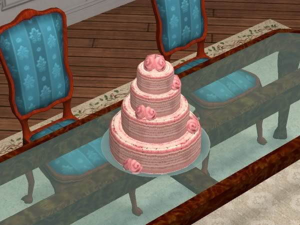 where is a wedding cake in sims 4 a pretty pink wedding cake sims 2 weddings cake and 27144
