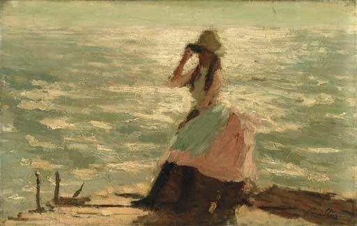 Girl Seated on a Pier - Philip Wilson Steer (1860 - 1942)