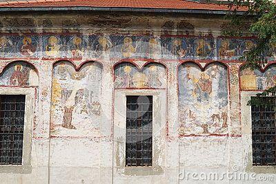 Frescoes at the Saint Nicholas Church (Biserica Sfantul Nicolae), Romania, Transylvania, Brasov, Schei