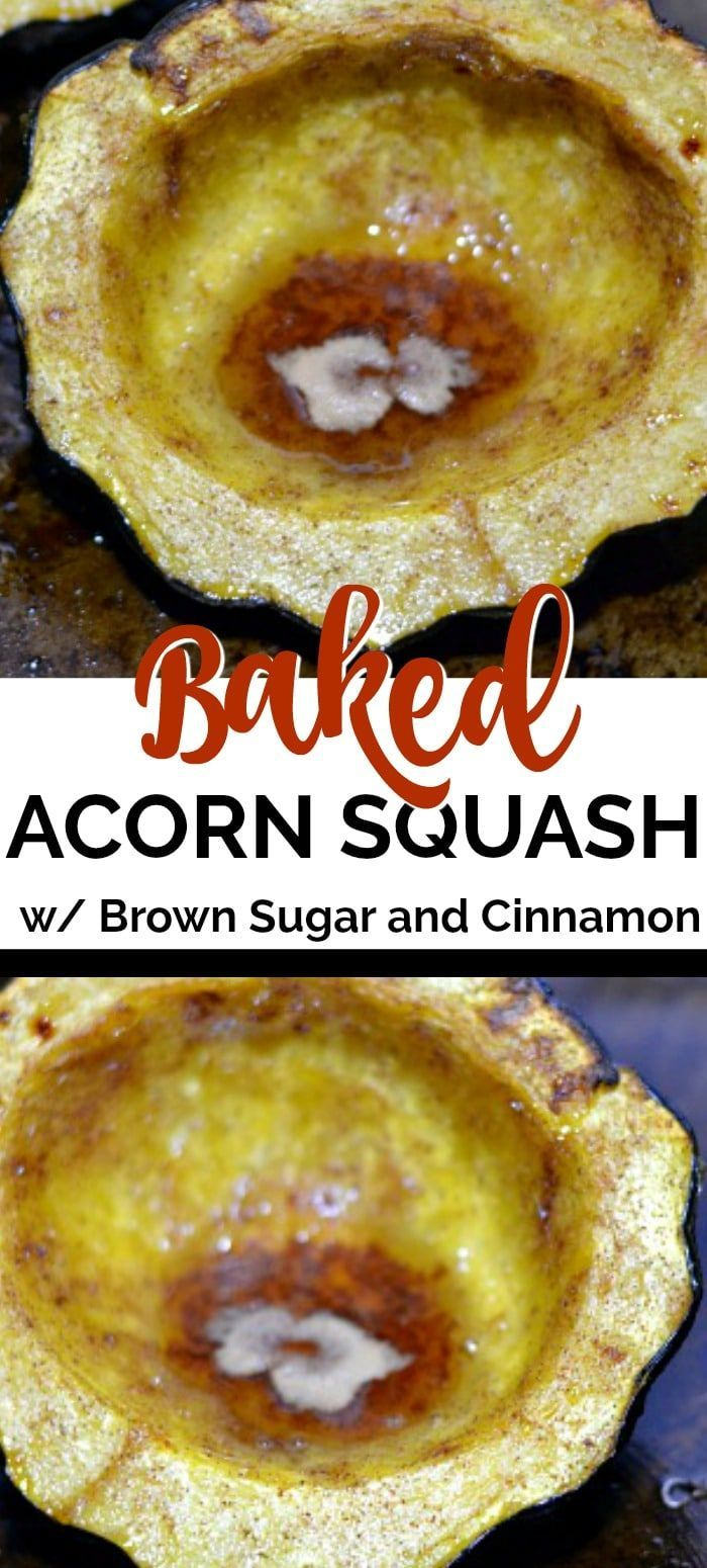 This Baked Acorn Squash Recipe Is A Simple Side Dish Flavored With