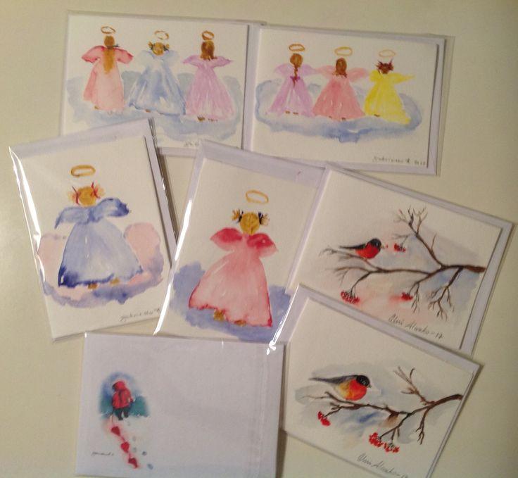 Watercolorcards 2017, sign by Gabriella and Olavi Alanko