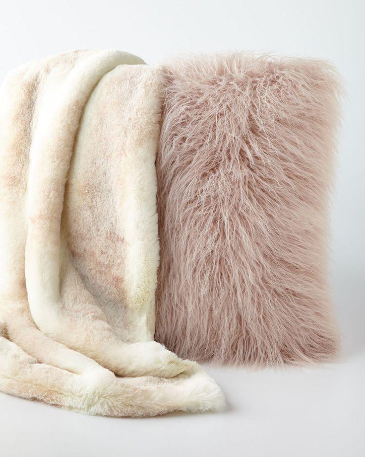 Blush Mink faux fur throw - Google Search
