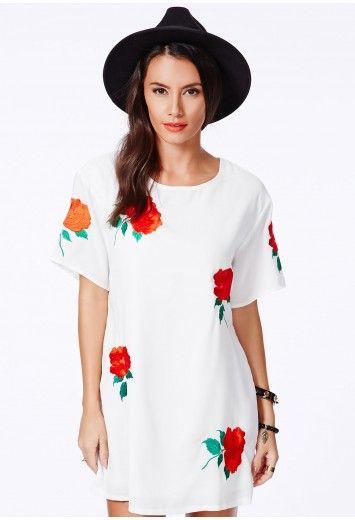 Ada Rose Print Oversized Dress - Dresses - Oversized Dresses - Missguided