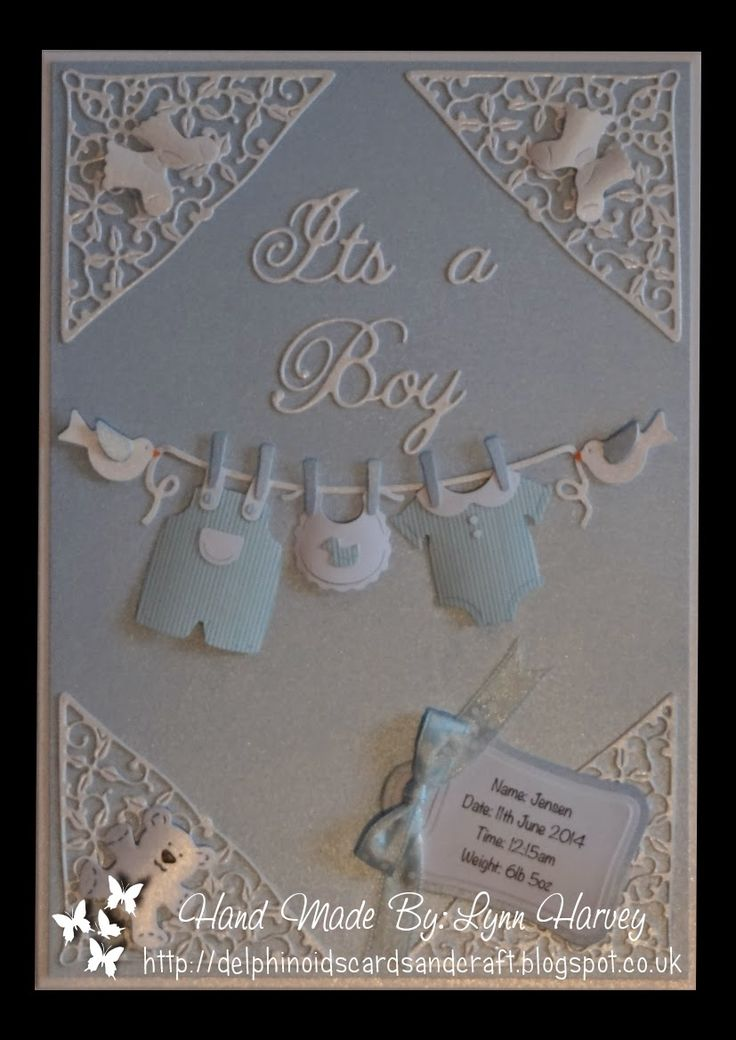 Delphinoid's Cards and Craft: New Baby Boy Card