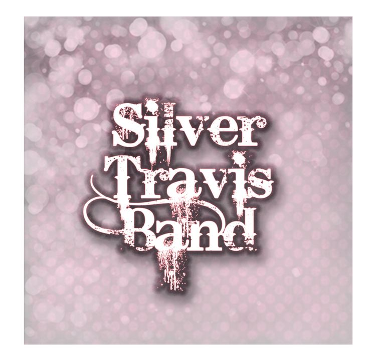 Girly Silver Travis Band logo, July, 2016.