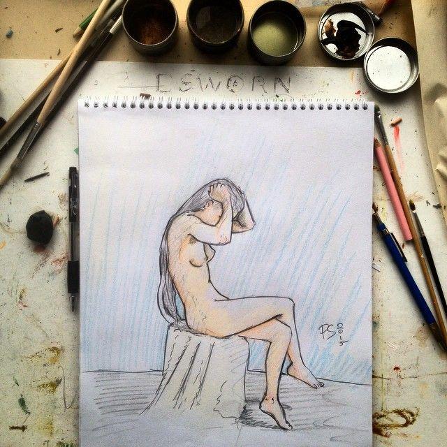 #sketching #lifedrawing #model