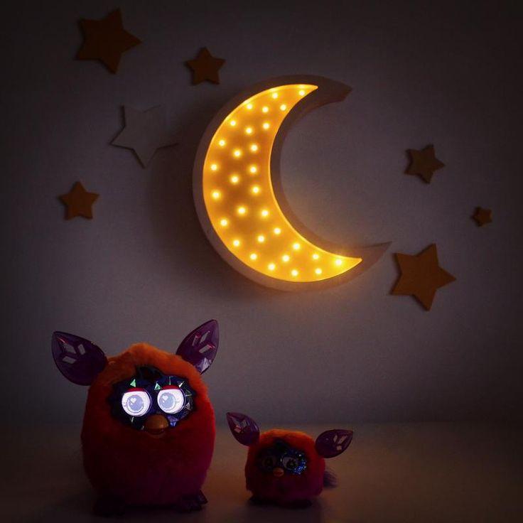 """Купить Светильник - ночник ручной работы для детской комнаты """"Месяц""""…"""