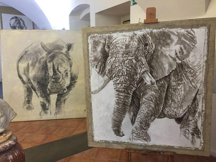 Elefante - affresco