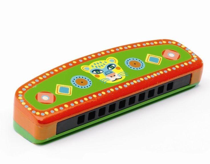 Djeco Animambo Kinderinstrument Mundharmonika für Kinder ab 3 Jahren - Bonuspunkte sammeln, Kauf auf Rechnung, DHL Blitzlieferung!